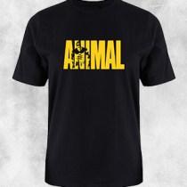 animal 1 crna majica zuti natpis