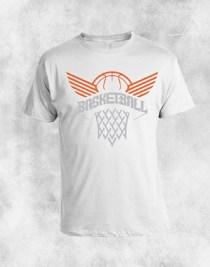 basketball 3 bela majica