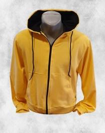 Zuta duks jakna sa crnim detaljima