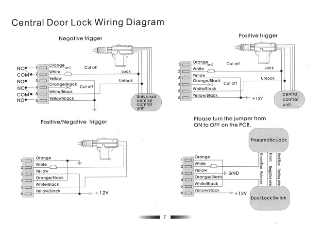 vision central locking wiring diagram vision wiring diagrams online universal power door lock wiring diagram
