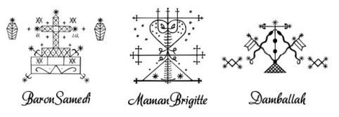 Veve, Symbolic representation of Voodoo Spirits, the Loa