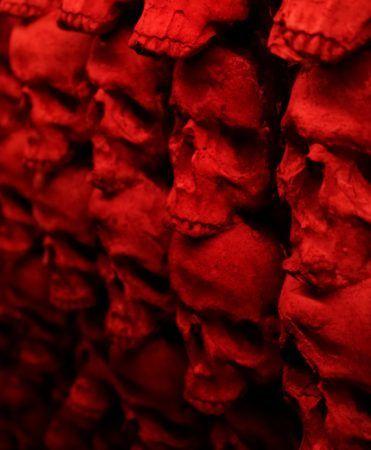 Red skull wall