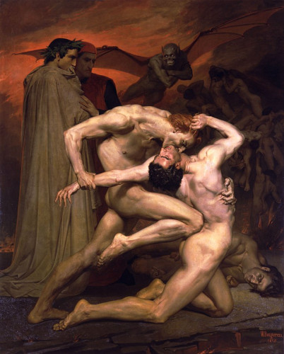 Dante and Virgil in Hell by William Adolphe Bourguereau (1850)