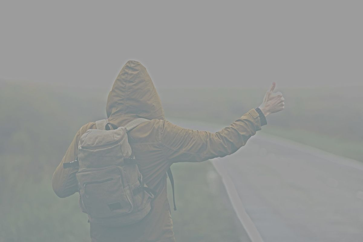 Phantom hitchhiker on the road