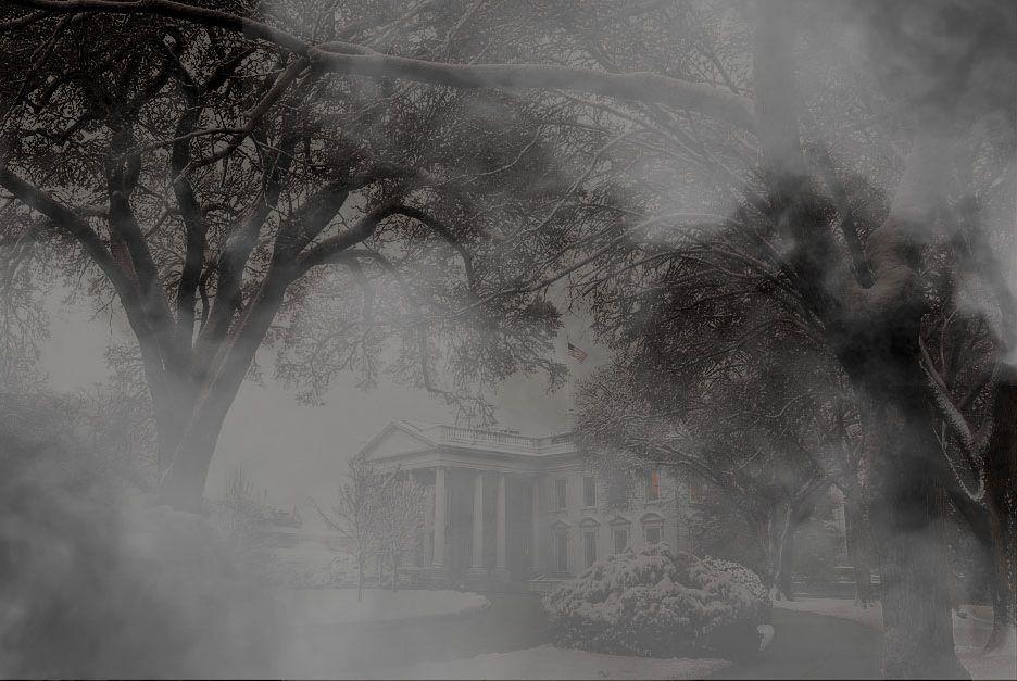 Spooky Misty White House
