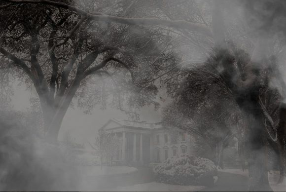 Spooky Misty White House