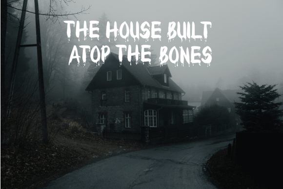 Haunted house with title