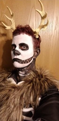Author Kris Silva in a Wendingo costume