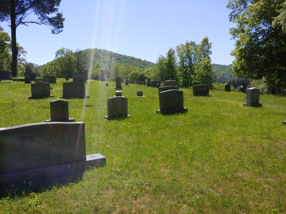 Cemetery in Valle Crucis at St. John's Episcopal Church