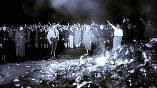The Book Burning at The Bebelplatz in Berlin, Germany (May 10, 1933)