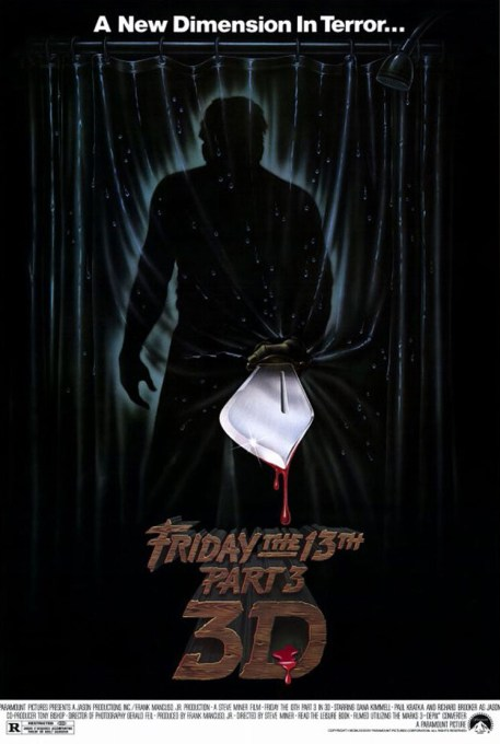 Friday the 13th part 3D movie poster