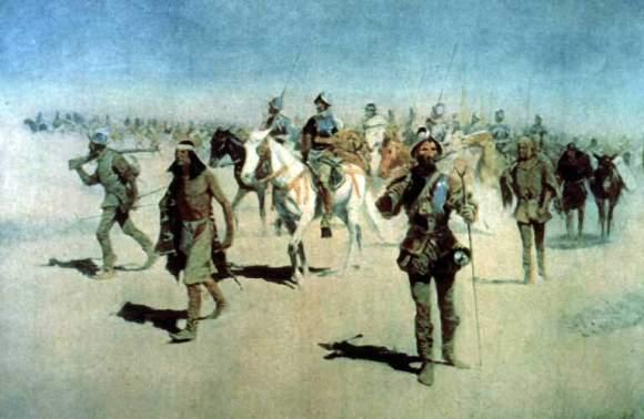 Coronado with native americans