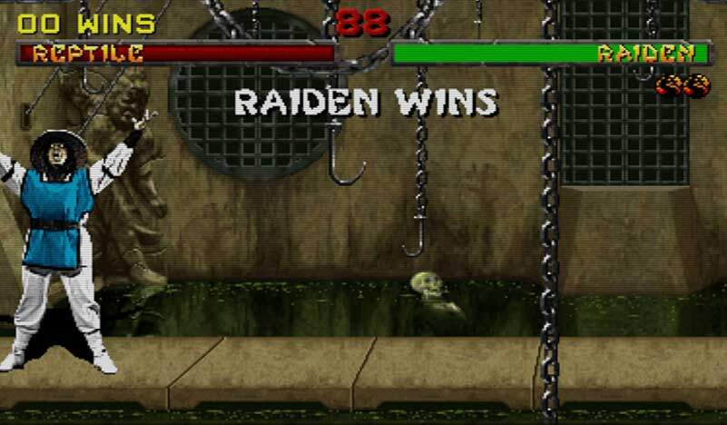 Raiden Wins Mortal Combat Screenshot