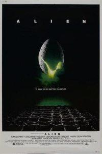 Alien 1979 horror movie poster featuring an alien egg