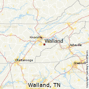 Map of Walland Texas Location