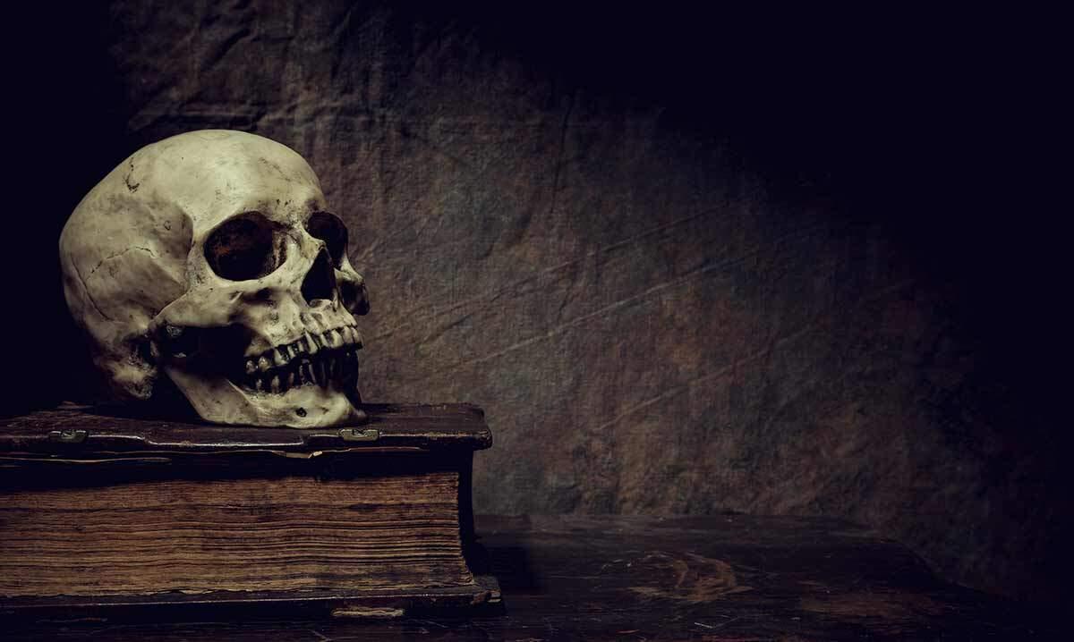 Folk Horror Book and Skull