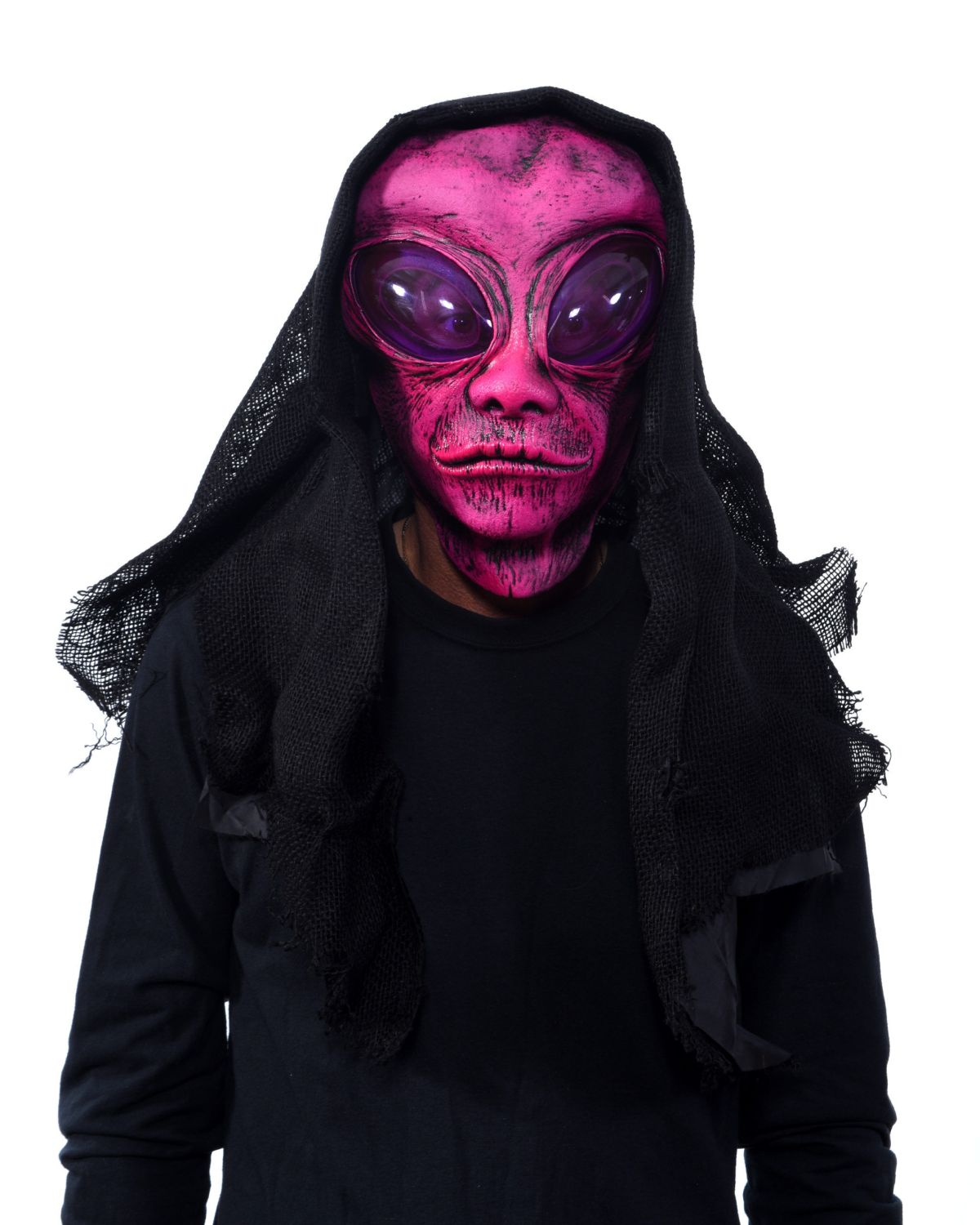 Pink Alien scary mask