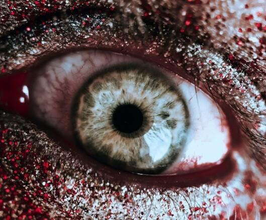 Close up of bloody eye
