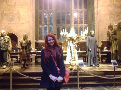 The Great Hall! ft. me repping Ravenclaw colours