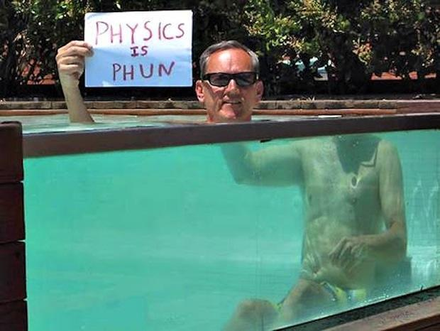 Physics bathtub optical illusion