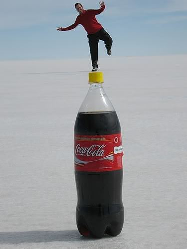 Funny coca cola optical illusion