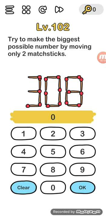 Jawaban Brain Out 2 : jawaban, brain, Brain, Level, Solution, (make, Biggest, Possible, Number, Moving, Matchsticks), Puzzle, Master