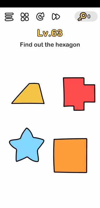 Jawaban Brain Out Level 63 : jawaban, brain, level, Brain, Level, Solution, (Find, Hexagon), Puzzle, Master