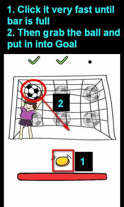 Buat Gol 3 Kali : Brain, Level, (Goal, Times), Solution, Puzzle, Master