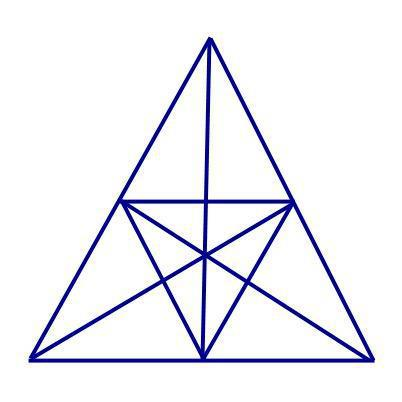 how many triangles in this triangle
