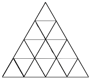 how many triangles in this triangle puzzle.