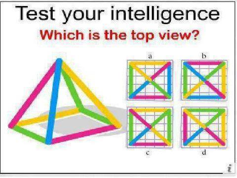 Test your intelligence-Which is the top view