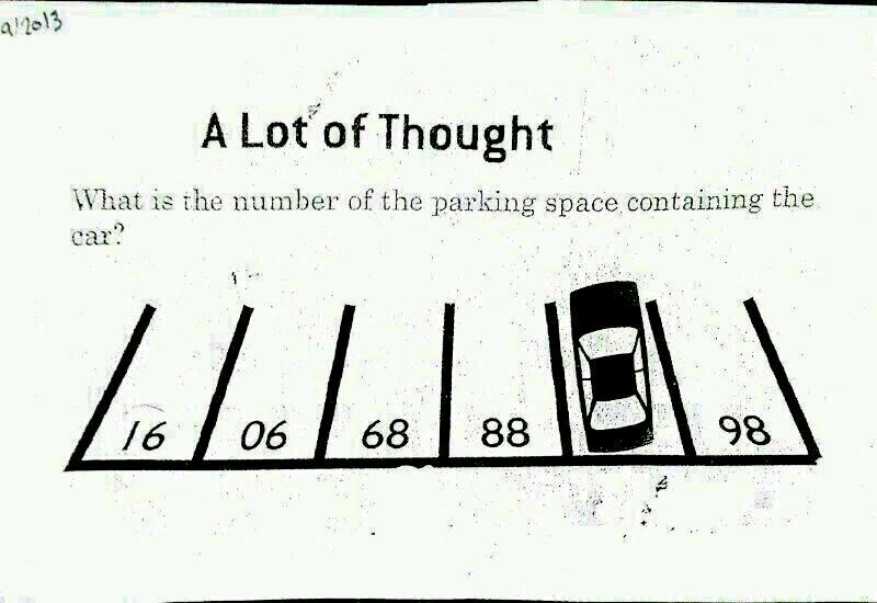 Lot of thought- parking number puzzle