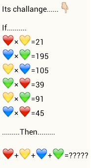 hearts number puzzle whatsapp