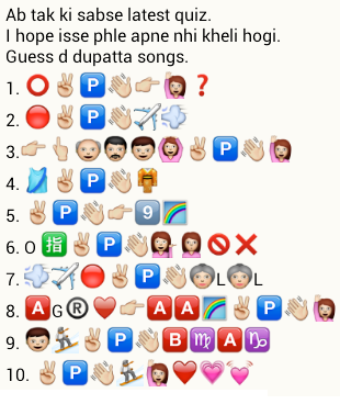 Guess dupatta songs from whatsapp emoticons