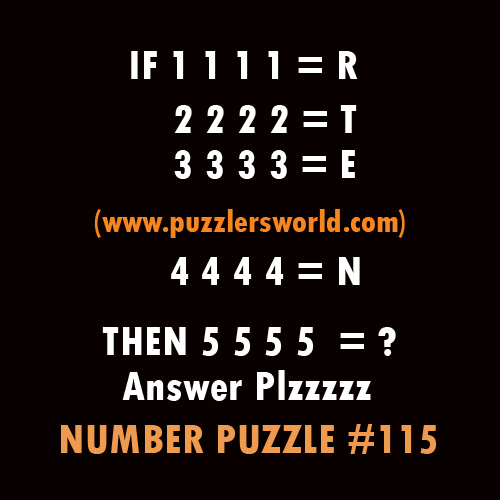 if,1 1 1 1=r 2 2 2 2=t 3 3 3 3=e 4 4 4 4 =n then 5555=?