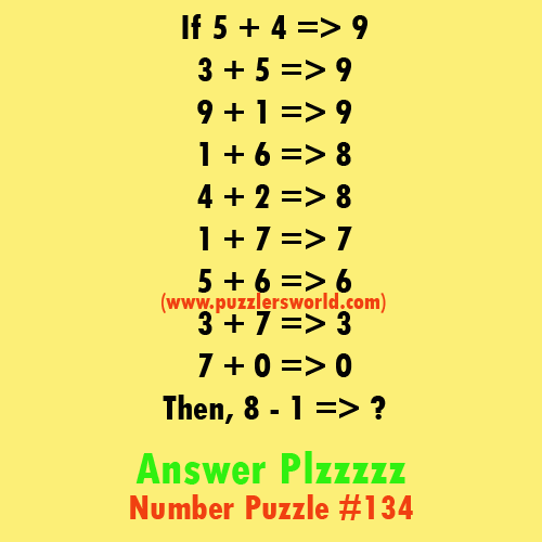Number-Puzzle-#134-if-5-+4-=-9