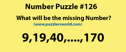 find-missing-number-9,19,40,....,170