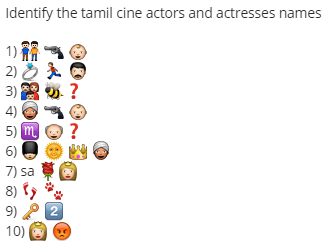 Identify tamil cine actors and actresses names