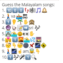Guess these 10 malayalam film songs whatsapp puzzle