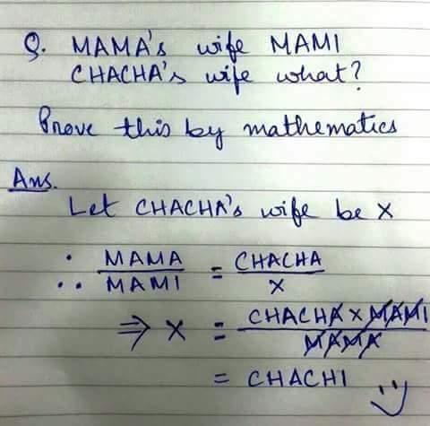 mama's wife mami, chaha's wife
