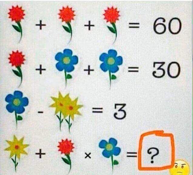Flower math puzzle