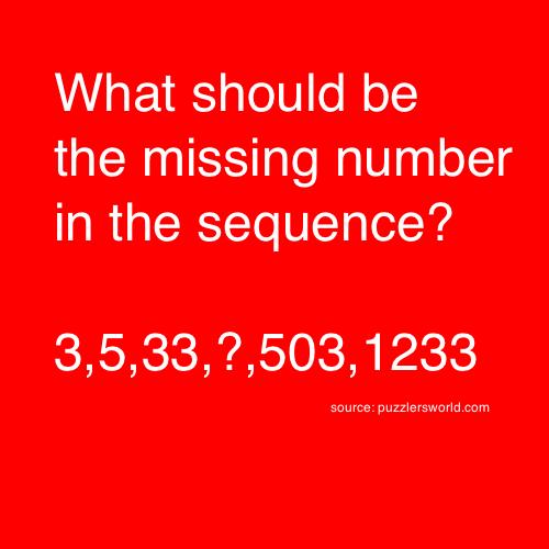 3,5,33,?,503,1233