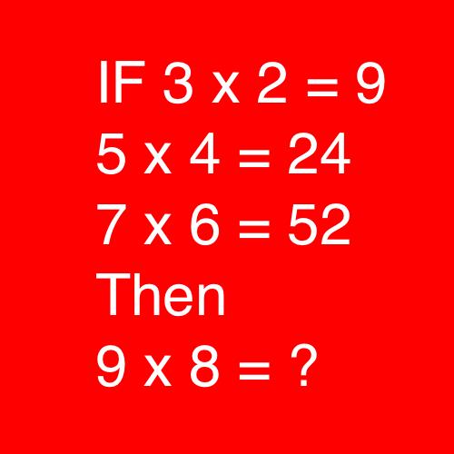 IF 3x2 = 9