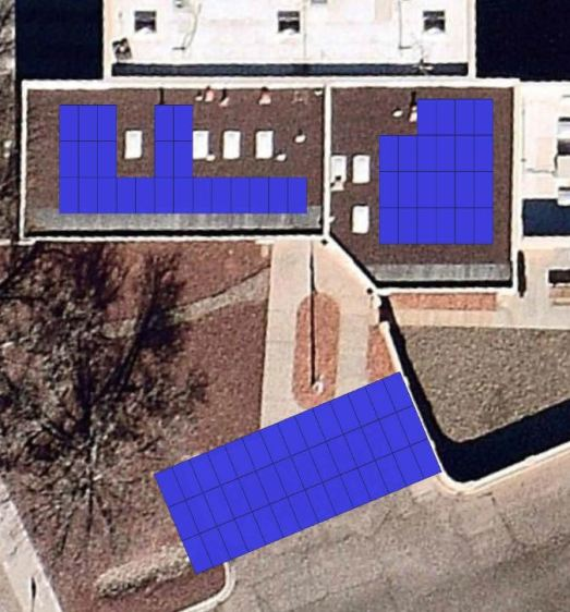 Fire Station 18, 335 W Canadian Solar, 7600 SolarEdge inverters, 35.5-kW-DC