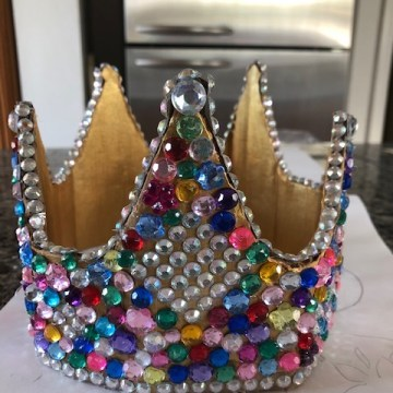 Cardboard Crown by Gretchen Regenhardt, Cardboard and Rhinestones