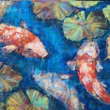 """Old Souls by Deborah Hill, Pastel on Board 18"""" x 24"""""""
