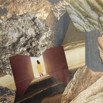 """A Way Out by Judith Ann Nilsen, Collage on 8.5"""" x 11"""" Paper"""