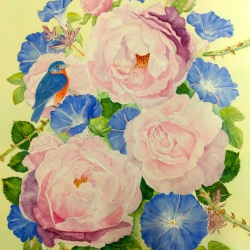 The Bluebird by Lee Taiz, Watercolor