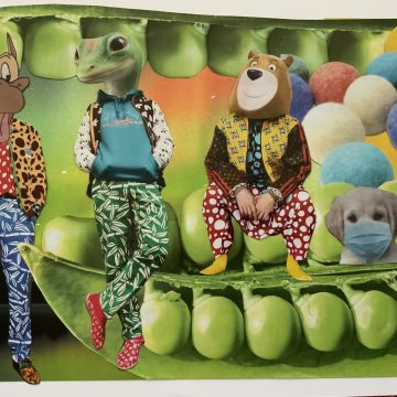 """JUST WEAR ONE by Judith Ann Nilsen, Collage on 8.5"""" x 11"""" paper"""
