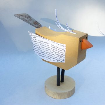 "Dickey Bird by Peter Koronakos, $135, Assemblage, 7"" x 3"" x 10"""